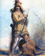 Mountain Man Old Bill Williams by Alfred Jacob Miller.