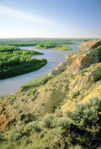 The Yellowstone River, near Sidney, Montana. Photo by Rick/Susie Graetz